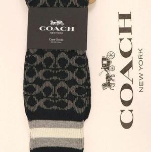 Mens signature Coach socks